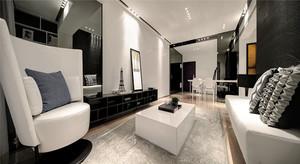 120平米后现代风格冷调室内装修效果图案例