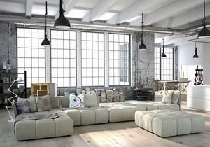 后现代风格大户型冷色调客厅装修效果图赏析