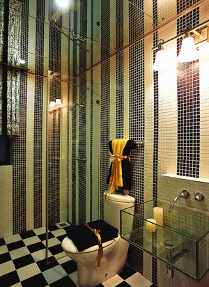 128平米精致混搭风格三室两厅室内装修效果图赏析
