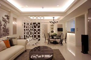 中西混搭风格简约精致两室两厅室内装修效果图案例