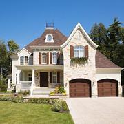 美式风格独栋别墅外观装修效果图欣赏