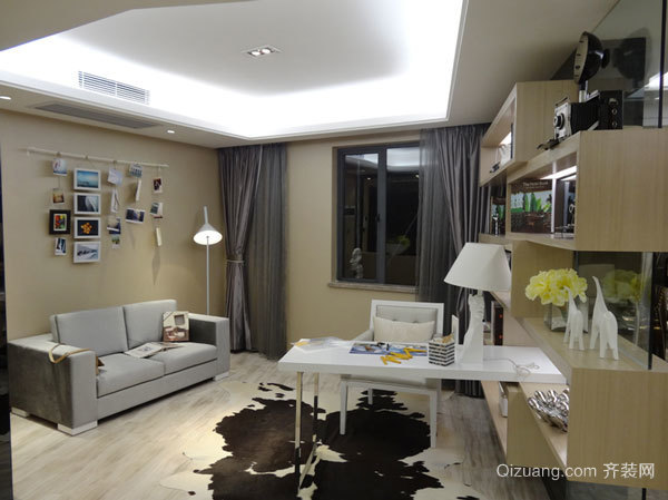 81平米现代简约风格两室室两厅室内装修效果图赏析
