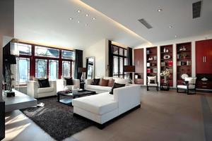 180平米简约中式风格大户型室内装修效果图案例