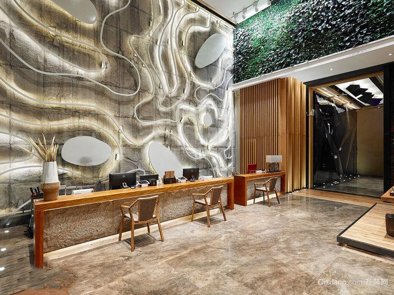 260平米新中式风格酒店前台设计装修效果图图片