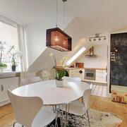 北欧风格简约白色餐厅装修效果图赏析