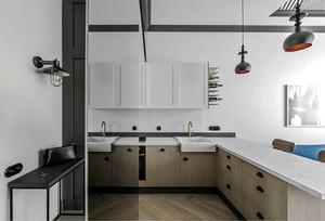 80平米后现代风格冷色系室内装修效果图赏析