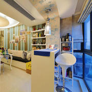 地中海风格简约家装吧台设计装修效果图赏析