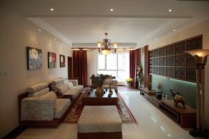 142平米东南亚风格简约大户型室内装修效果图赏析