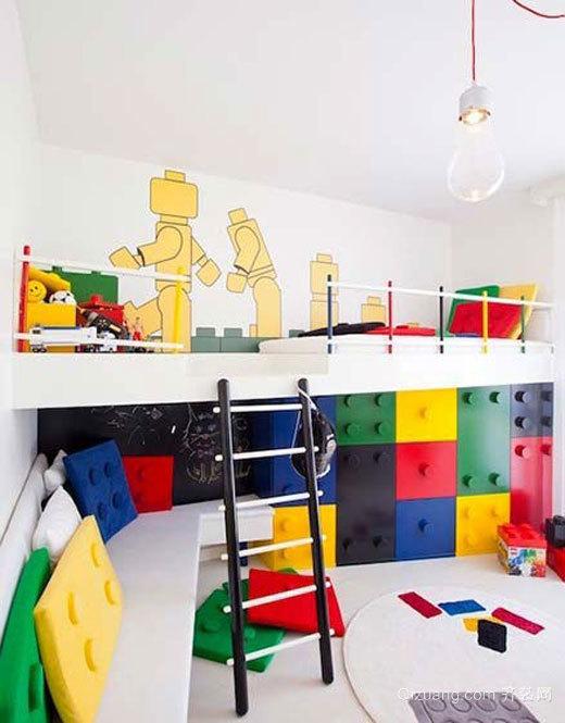 现代简约风格多彩儿童房设计装修效果图大全