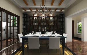 后现代风格大户型精致餐厅吊顶设计装修效果图