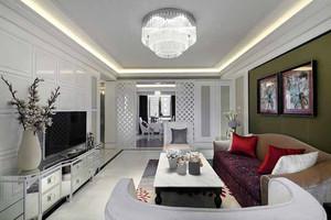120平米简欧风格白色精致室内装修效果图欣赏