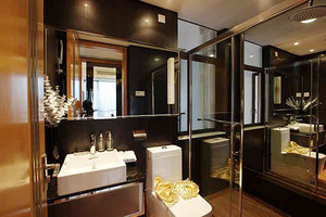 133平米简欧风格三室两厅室内装修效果图案例