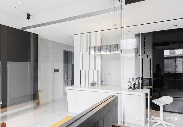 86平米现代简约风格白色系公寓装修效果图欣赏