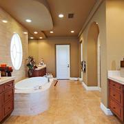 20平米美式风格别墅卫生间装修效果图赏析