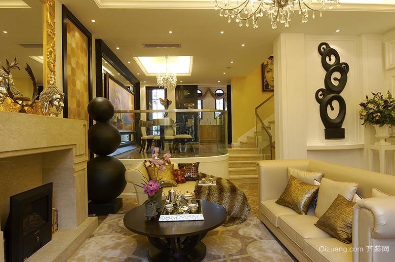 360平米欧式风格奢华精致别墅室内装修效果图案例
