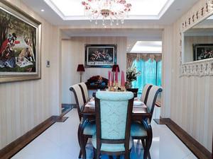 欧式风格精致典雅餐厅设计装修效果图