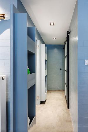 清新风格浅蓝色玄关设计装修效果图欣赏