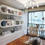 现代简约风格三居室书房设计装修效果图