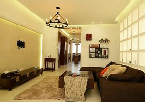 118平米新中式风格精致三室两厅室内装修效果图