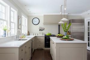 现代简约风格大户型整体厨房装修效果图赏析