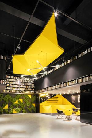 100平米后现代风格书店设计装修效果图赏析