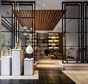 90平米中式风格雅致茶楼设计装修效果图赏析