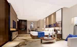 中式风格整洁舒适宾馆客房设计装修效果图