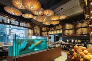 中式风格古典雅韵中餐厅吊顶设计装修效果图