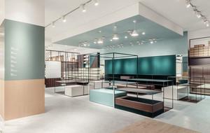 66平米现代简约风格鞋店展柜设计装修效果图赏析