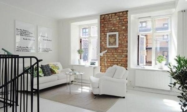 103平米北欧风格简约白色小复式楼装修效果图