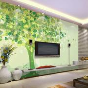 现代简约风格创意客厅电视背景墙装修效果图
