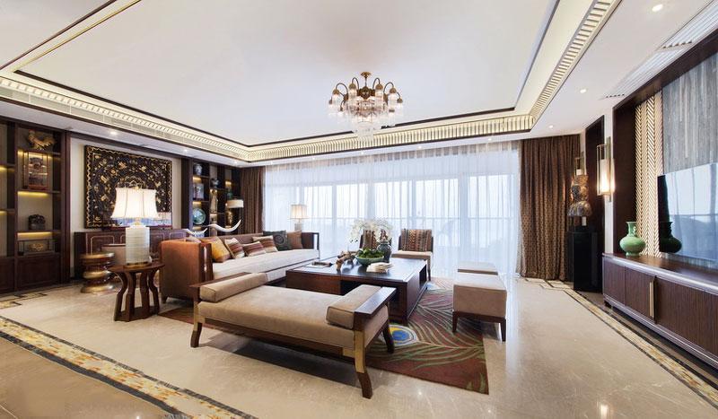138平米东南亚风格精致四室两厅室内装修效果图