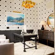 12平米混搭风格创意书房设计装修效果图