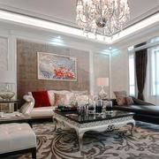 简欧风格精美客厅吊灯设计装修效果图
