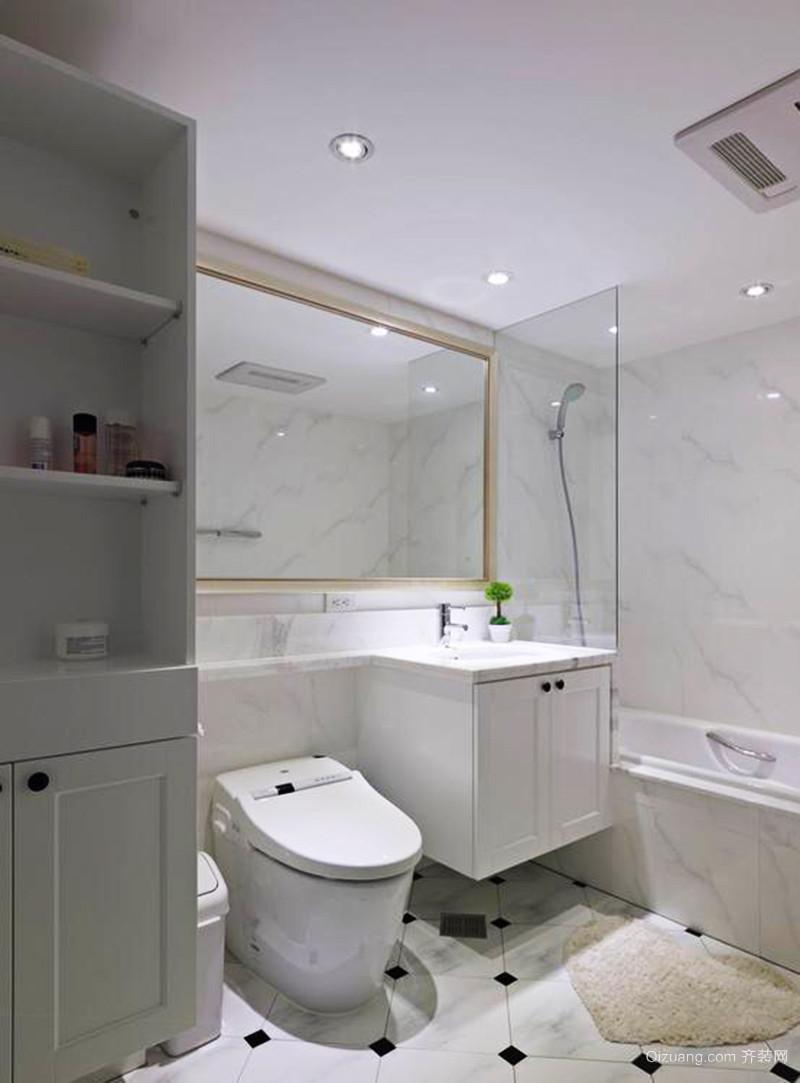 105平米简约美式风格两室两厅一卫装修效果图赏析