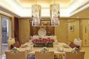 136平米欧式风格精致华丽三室两厅室内装修效果图