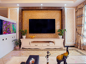 欧式田园风格温馨典雅两室两厅一卫装修效果图赏析