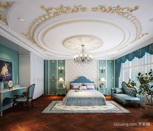 欧式风格别墅室内典雅精致卧室吊顶设计装修效果图