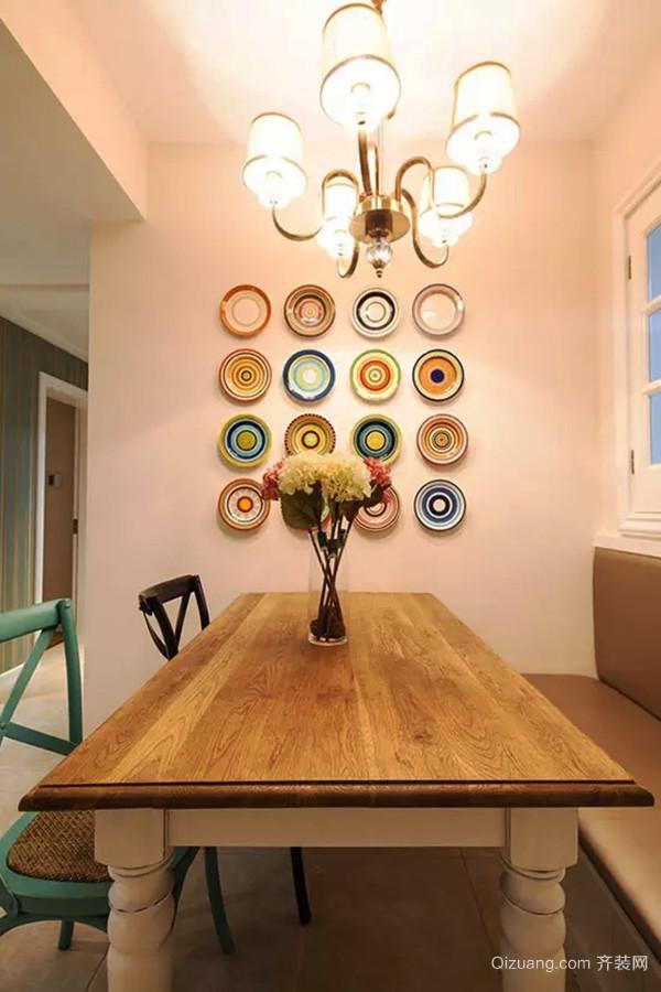 97平米田园风格温馨两室一厅室内装修效果图赏析