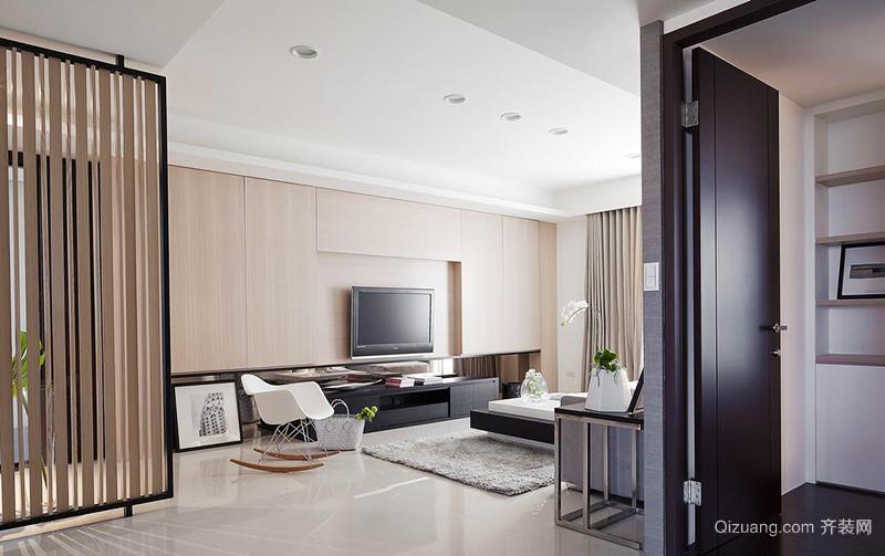 63平米现代简约风格一居室小户型装修效果图赏析