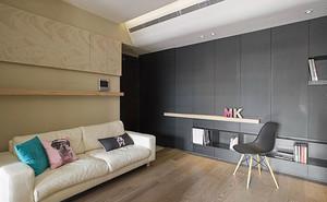 91平米现代原木风格两室两厅室内装修效果图