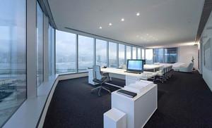 80平米现代简约风格多功能会议室装修效果图