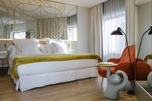 现代风格五星级酒店客房设计装修效果图