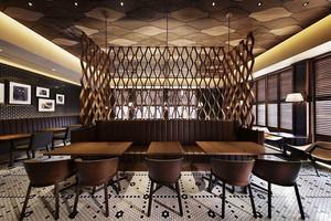 现代风格深色系咖啡厅设计装修效果图赏析