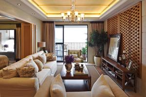 东南亚风格大户型客厅电视背景墙装修效果图赏析
