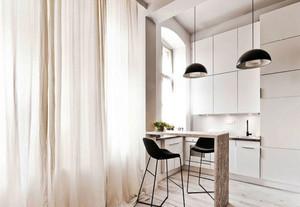 简约风格两居室浅色吧台设计装修效果图赏析