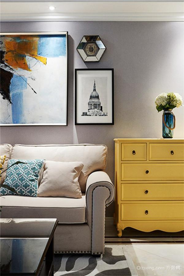 123平米简约美式风格精装三室两厅装修效果图赏析