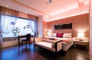 现代简约风格浅色卧室背景墙装修效果图赏析