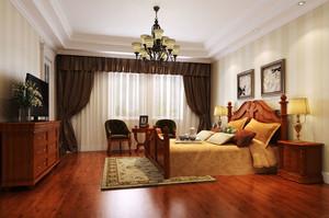 美式风格大户型精致古典卧室装修效果图欣赏