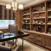 12平米中式风格精致书房设计装修效果图赏析